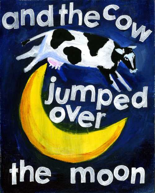 and the cow jumped over moon | Handwritten Life