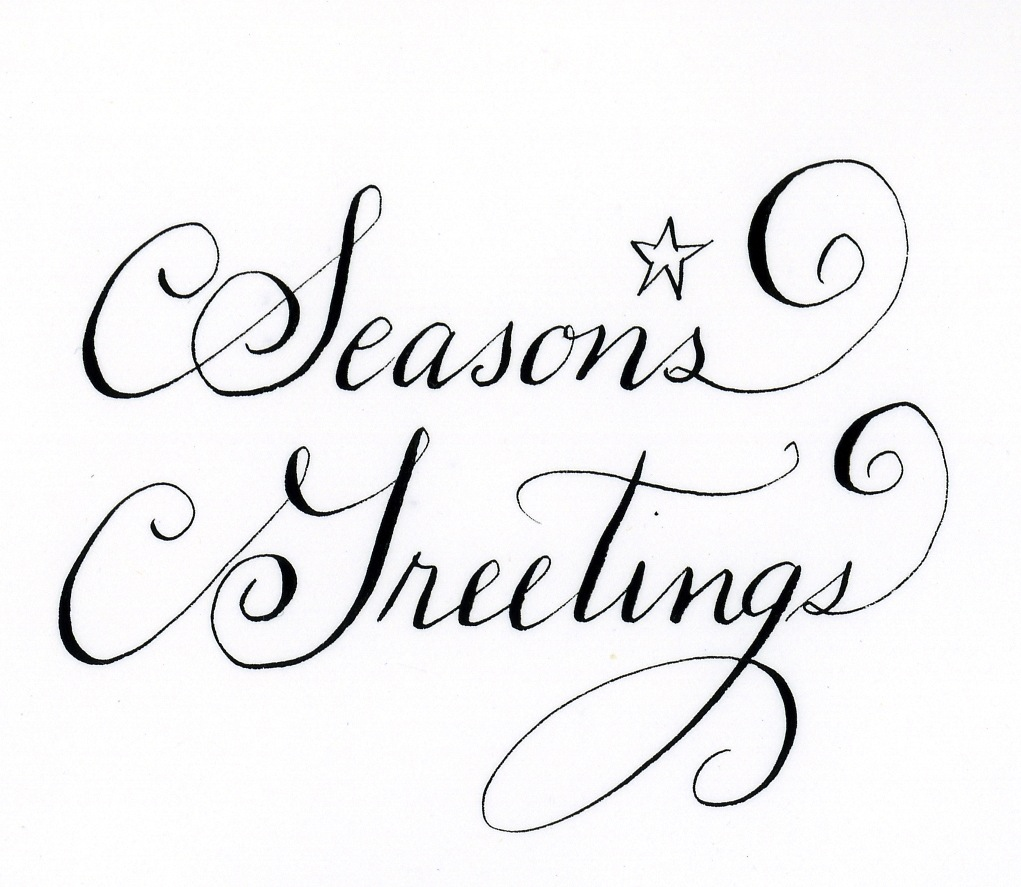 Season's Greetings Calligraphy | Handwritten Life