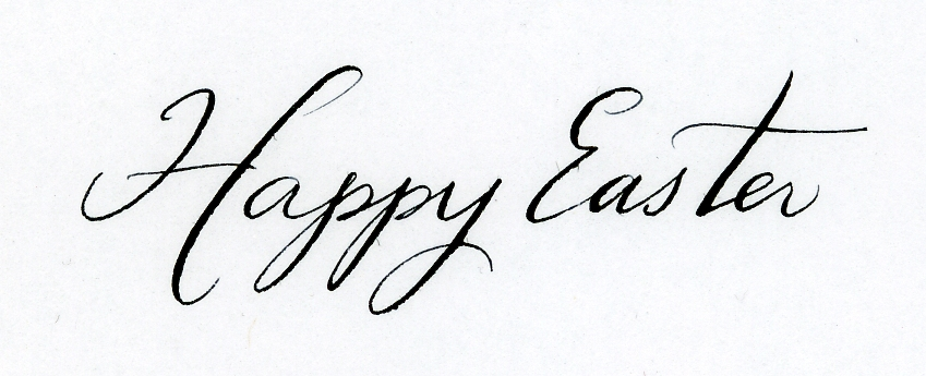 Happy easter calligraphy handwritten life