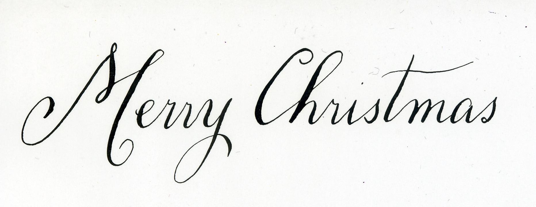 Merry Christmas Calligraphy.Merry Christmas Calligraphy Handwritten Life