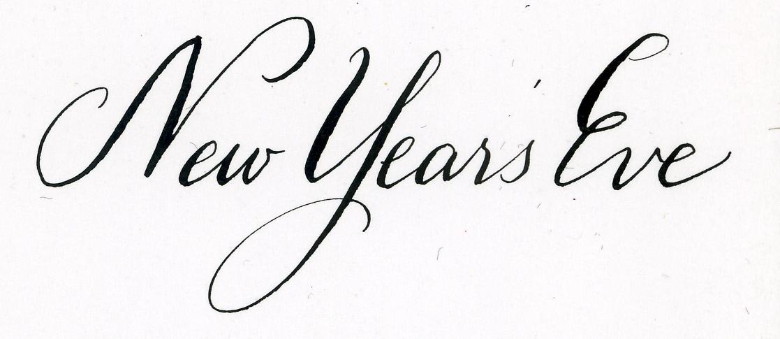 New year s eve calligraphy handwritten life